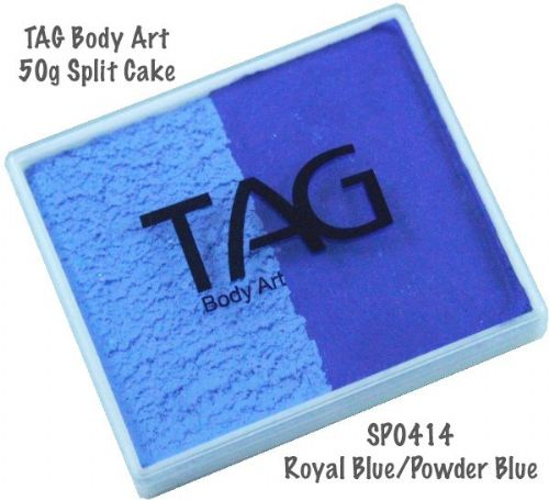 2 Colour Split Cake ~ Royal Blue / Powder Blue